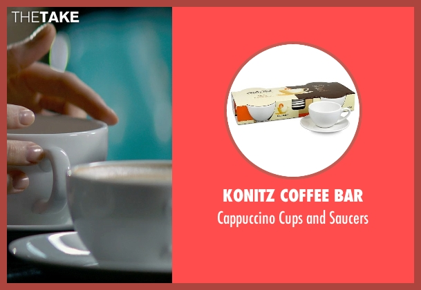 Konitz Coffee Bar saucers from Fifty Shades of Grey seen with Dakota Johnson (Anastasia Steele)