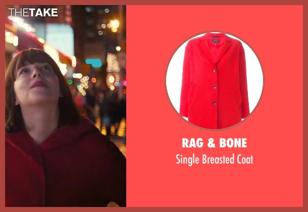 Rag & Bone red coat from How To Be Single seen with Dakota Johnson (Alice)