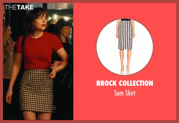 Brock Collection skirt from How To Be Single seen with Dakota Johnson (Alice)
