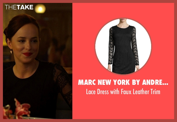 Marc New York by Andrew Marc black trim from Need for Speed seen with Dakota Johnson (Anita)