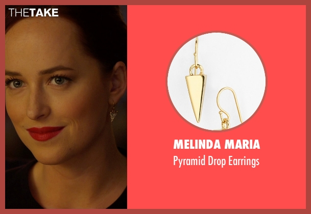 Melinda Maria gold earrings from Need for Speed seen with Dakota Johnson (Anita)