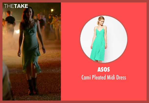 Asos green dress from Need for Speed seen with Dakota Johnson (Anita)
