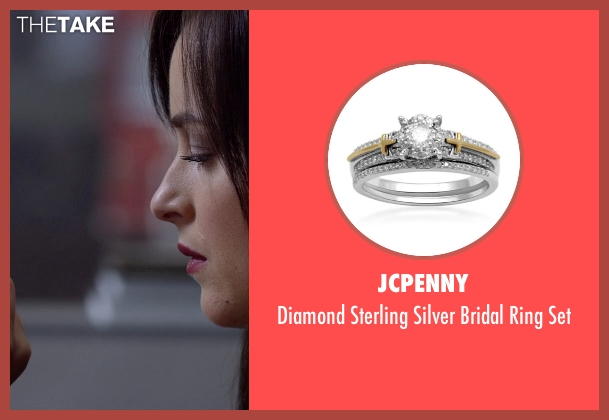 JCPenny silver set from Need for Speed seen with Dakota Johnson (Anita)