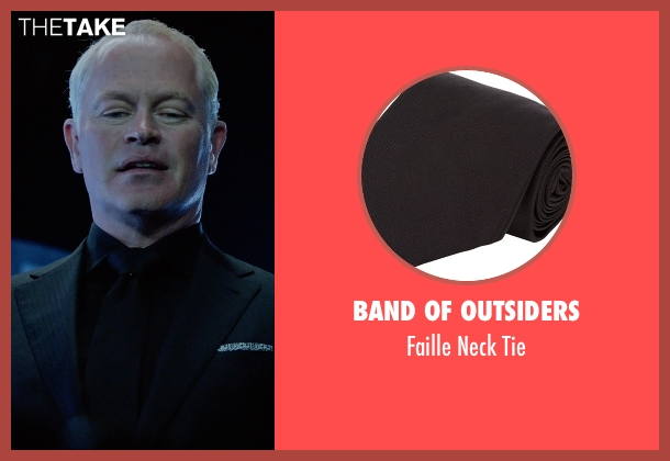 Band Of Outsiders black tie from Arrow seen with Damien Darhk (Neal McDonough)