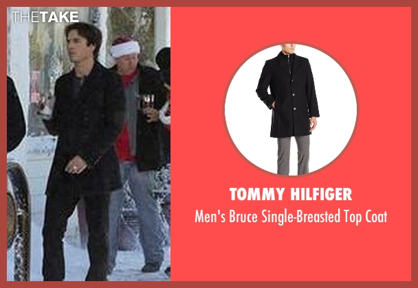 Tommy Hilfiger black coat from The Vampire Diaries seen with Damon Salvatore (Ian Somerhalder)
