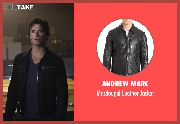 Andrew Marc black jacket from The Vampire Diaries seen with Damon Salvatore (Ian Somerhalder)