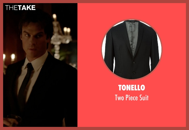 Tonello black suit from The Vampire Diaries seen with Damon Salvatore (Ian Somerhalder)