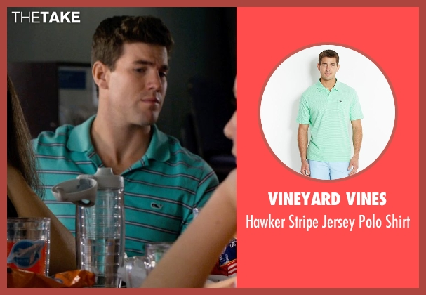 Vineyard Vines green shirt from Dolphin Tale 2 seen with Damon Sementilli (News Reporter)