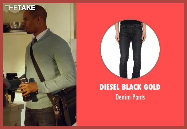 Diesel Black Gold black pants from Let's Be Cops seen with Damon Wayans Jr. (Justin)