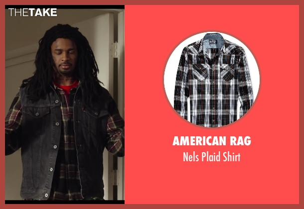 American Rag black shirt from Let's Be Cops seen with Damon Wayans Jr. (Justin)
