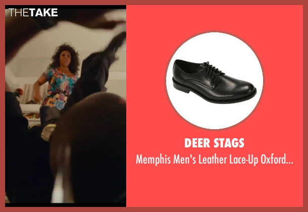 Deer Stags black shoes from Let's Be Cops seen with Damon Wayans Jr. (Justin)