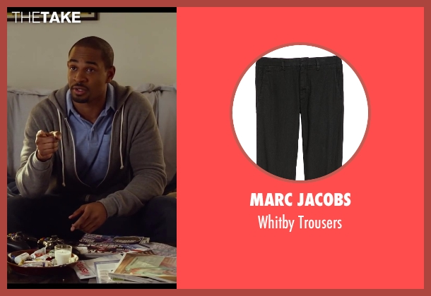 Marc Jacobs black trousers from Let's Be Cops seen with Damon Wayans Jr. (Justin)