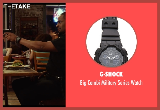 G-Shock black watch from Let's Be Cops seen with Damon Wayans Jr. (Justin)