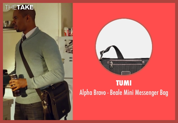 Tumi brown bag from Let's Be Cops seen with Damon Wayans Jr. (Justin)