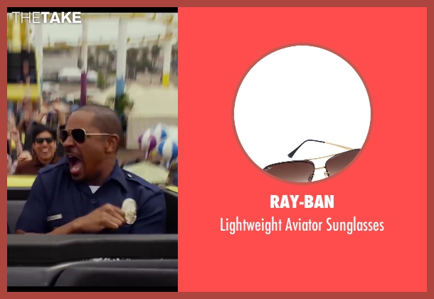 Ray-Ban brown sunglasses from Let's Be Cops seen with Damon Wayans Jr. (Justin)