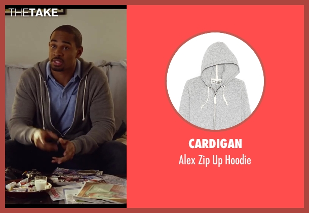 Cardigan gray hoodie from Let's Be Cops seen with Damon Wayans Jr. (Justin)