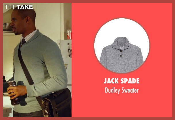 Jack Spade gray sweater from Let's Be Cops seen with Damon Wayans Jr. (Justin)