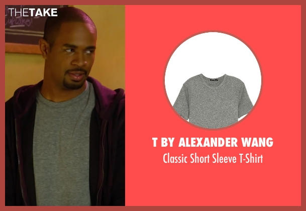 T by Alexander Wang gray t-shirt from Let's Be Cops seen with Damon Wayans Jr. (Justin)