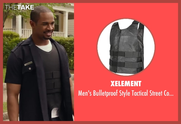 Xelement vest from Let's Be Cops seen with Damon Wayans Jr. (Justin)