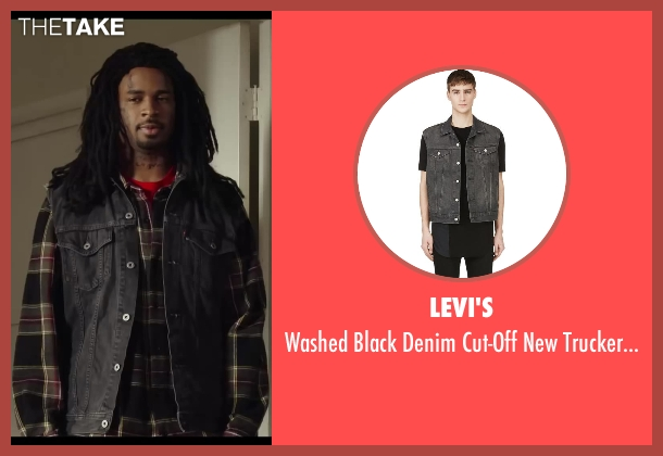 Levi's vest from Let's Be Cops seen with Damon Wayans Jr. (Justin)