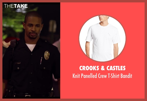 Crooks & Castles white bandit from Let's Be Cops seen with Damon Wayans Jr. (Justin)