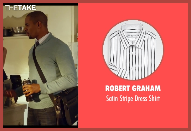 Robert Graham white shirt from Let's Be Cops seen with Damon Wayans Jr. (Justin)