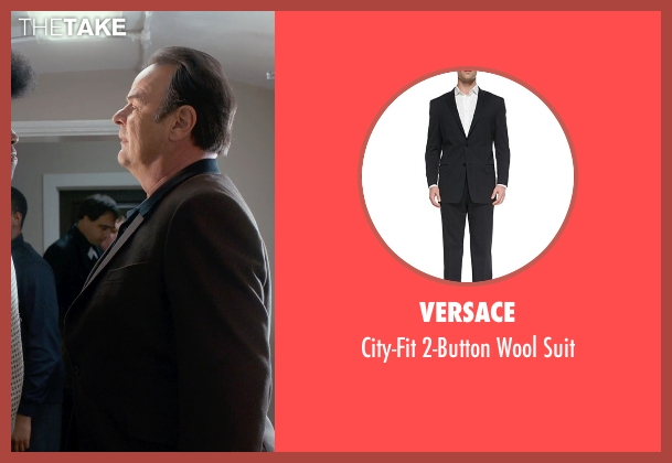 Versace black suit from Get On Up seen with Dan Aykroyd (Ben Bart)