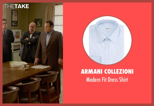 Armani Collezioni blue shirt from Get On Up seen with Dan Aykroyd (Ben Bart)