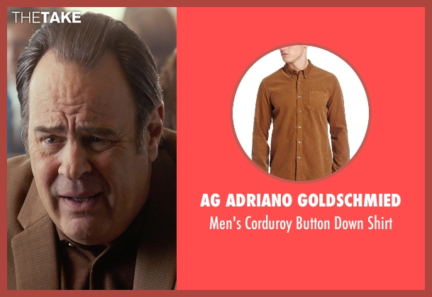 AG Adriano Goldschmied brown shirt from Get On Up seen with Dan Aykroyd (Ben Bart)