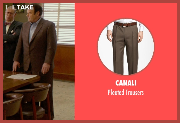 Canali brown trousers from Get On Up seen with Dan Aykroyd (Ben Bart)