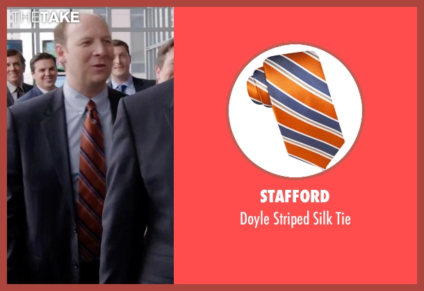 Stafford orange tie from Get Hard seen with Dan Bakkedahl (Rick)