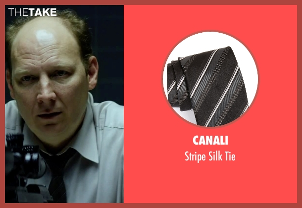 Canali black tie from Hitman: Agent 47 seen with Dan Bakkedahl (Unknown Character)