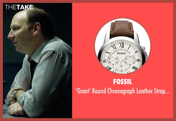Fossil brown watch from Hitman: Agent 47 seen with Dan Bakkedahl (Unknown Character)