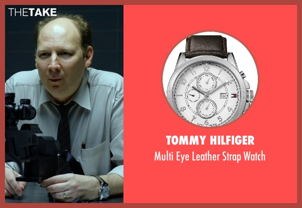 Tommy Hilfiger brown watch from Hitman: Agent 47 seen with Dan Bakkedahl (Unknown Character)