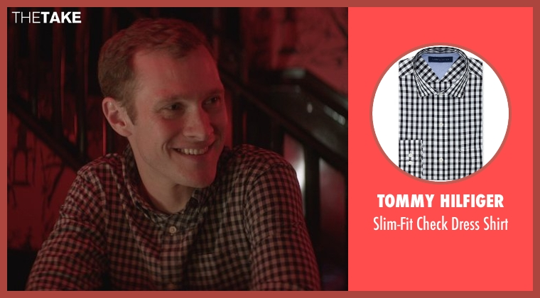 Tommy Hilfiger black shirt from That Awkward Moment seen with Dan Bittner (Preppy Guy)