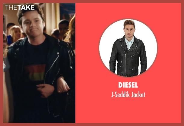 Diesel black jacket from Easy A seen with Dan Byrd (Brandon)