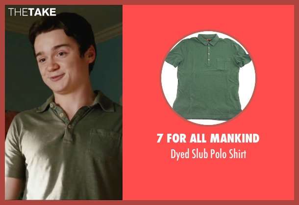 7 For All Mankind green shirt from Easy A seen with Dan Byrd (Brandon)