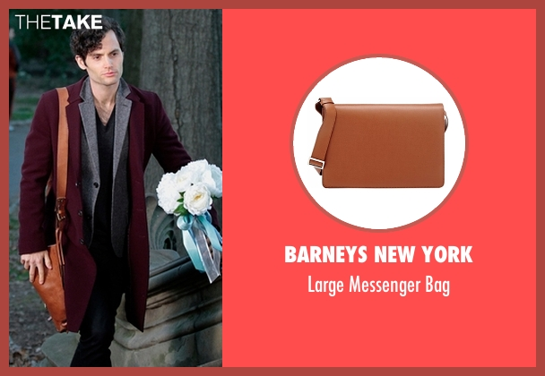 Barneys New York brown bag from Gossip Girl seen with Dan Humphrey (Penn Badgley)