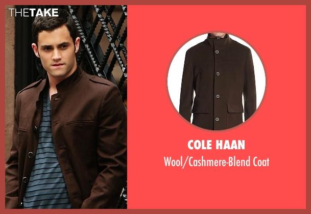 Cole Haan brown coat from Gossip Girl seen with Dan Humphrey (Penn Badgley)