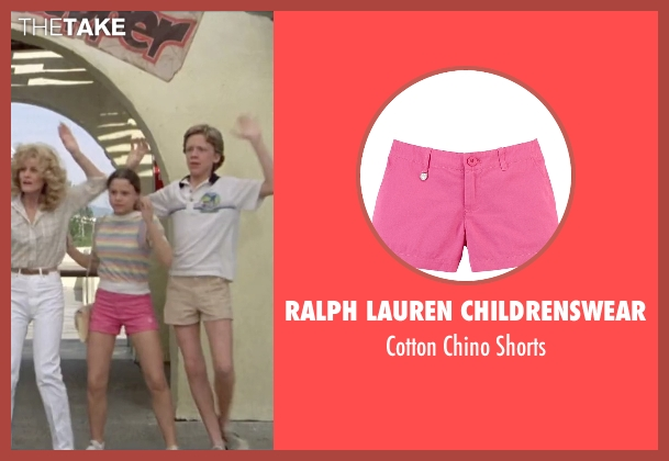 Ralph Lauren Childrenswear pink shorts from Vacation seen with Dana Barron (Audrey Griswold)