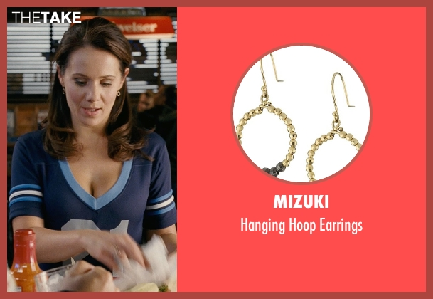 Mizuki gold earrings from Couple's Retreat seen with Dana Fox (Waitress)