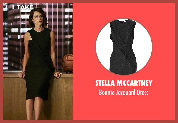 Stella McCartney black dress from Suits seen with Dana Scott (Abigail Spencer)