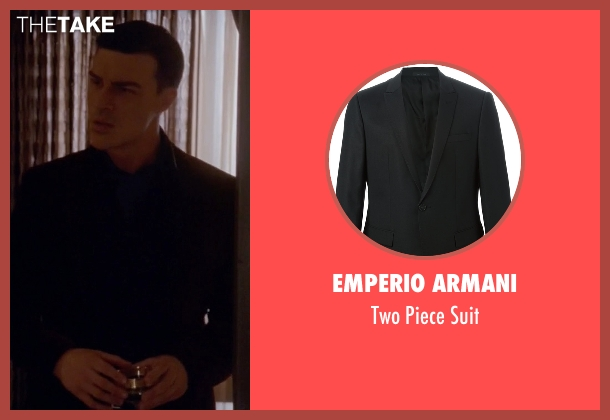 Emperio Armani black suit from American Horror Story seen with Dandy Mott (Finn Wittrock)