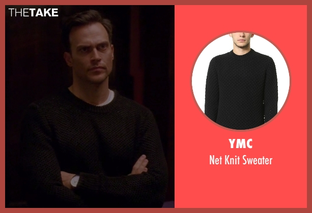 YMC black sweater from American Horror Story seen with Will Drake (Cheyenne Jackson)
