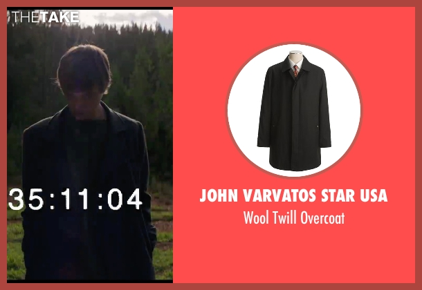John Varvatos Star USA black overcoat from Chronicle seen with Dane DeHaan (Andrew Detmer)