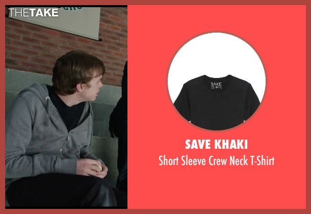 Save Khaki black t-shirt from Chronicle seen with Dane DeHaan (Andrew Detmer)