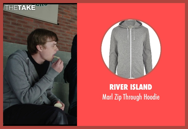 River Island gray hoodie from Chronicle seen with Dane DeHaan (Andrew Detmer)