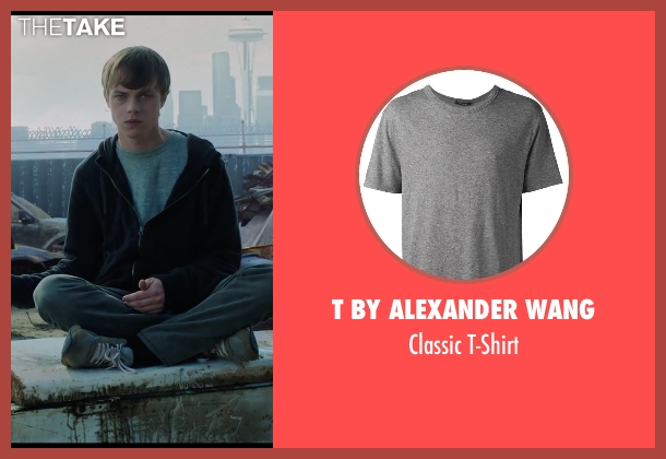 T by Alexander Wang gray t-shirt from Chronicle seen with Dane DeHaan (Andrew Detmer)
