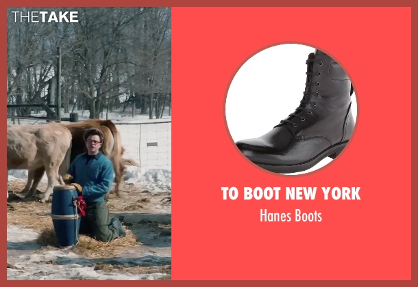 To Boot New York black boots from Life seen with Dane DeHaan (James Dean)