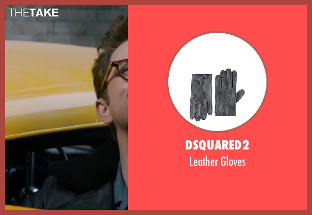 Dsquared2 black gloves from Life seen with Dane DeHaan (James Dean)